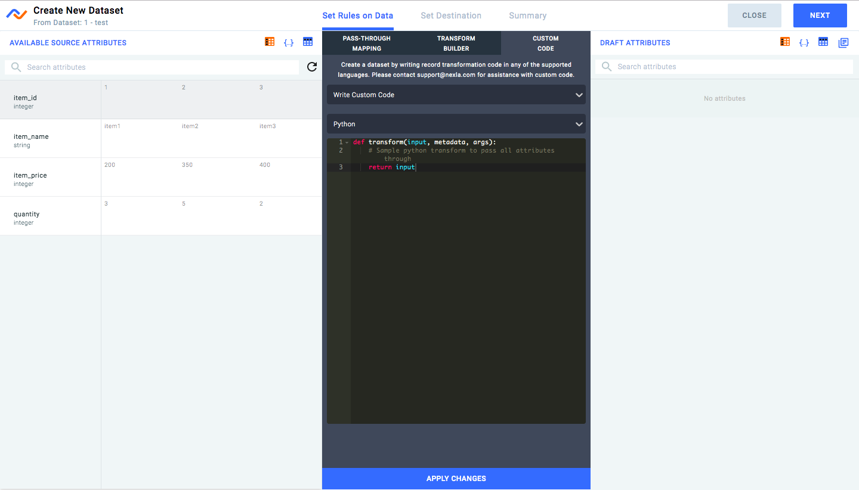 Creating Reusable Transforms using Python/Javascript – Nexla